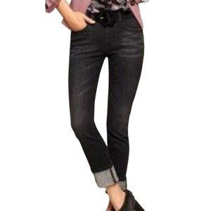 Cabi Smolder High Straight Black Jeans